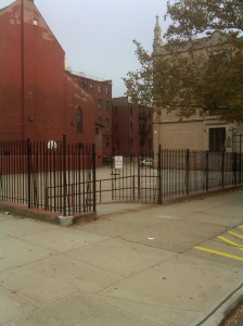 Schoolyard from Prospect Ave