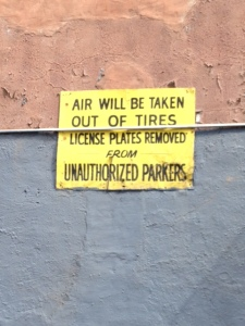 NYC Sign about parking