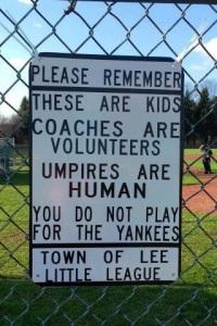 Little League sign