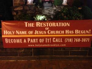 Restoration sign Sept. 26