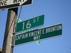 Street sign-Vincent Brunton