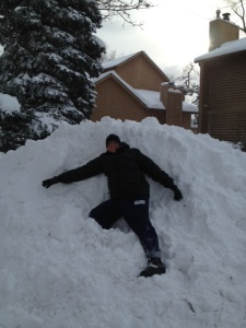 Me on pile of snow