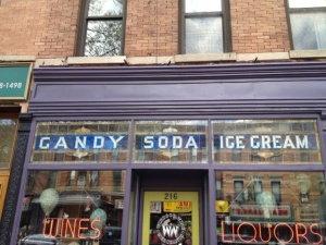 Candy store sign