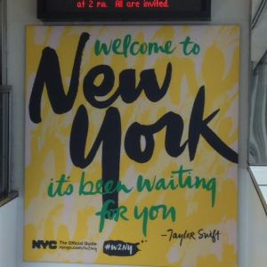 Welcome to NY sign