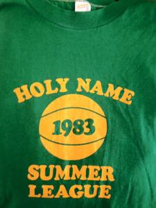 Holy Name Summer League shirt