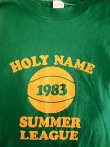 Holy Name Summer League shirt