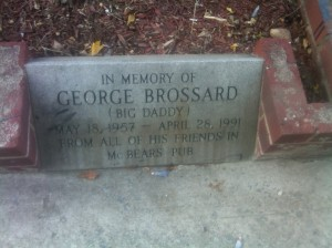 George Brossard Plaque