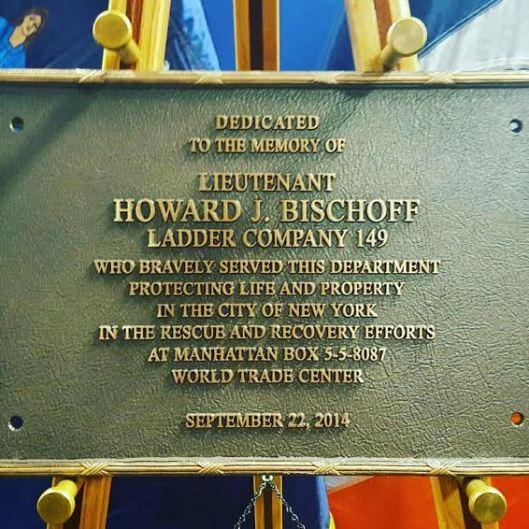 Howie Bischoff Plaque