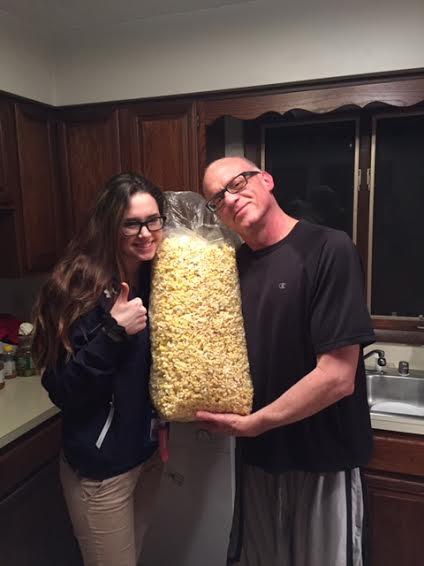 Me and Taylor with popcorn