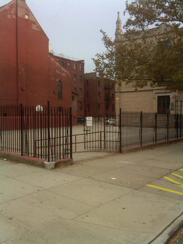 Corner shot of schoolyard